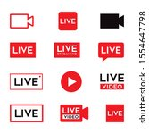 online video broadcasting icon...   Shutterstock .eps vector #1554647798