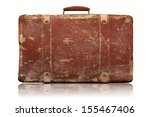 Old Vintage Suitcase Isolated...