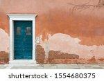 Vintage Front Door Painted Blue ...