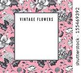 elegant vintage card with... | Shutterstock .eps vector #155469392