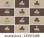 set of business cards on the...   Shutterstock .eps vector #155471288