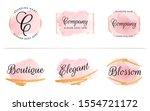 set of feminine badge with... | Shutterstock .eps vector #1554721172