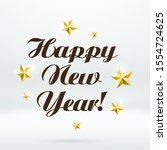 happy 2020 new year. holiday... | Shutterstock .eps vector #1554724625
