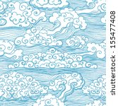 seamless pattern with clouds....   Shutterstock .eps vector #155477408