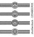 set of maori polynesian tattoo... | Shutterstock .eps vector #1554801935