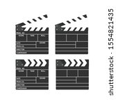 movie clapperboard. vintage... | Shutterstock .eps vector #1554821435