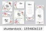 pink floral wedding invitation... | Shutterstock .eps vector #1554826115
