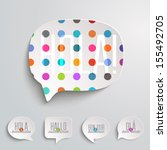 web speech bubbles | Shutterstock .eps vector #155492705