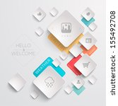 web template | Shutterstock .eps vector #155492708