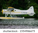 Small photo of Parry Sound, Ontario/Canada - circa July 2015 : DHC-2 Beaver aircraft lands on Lake Shawanaga near Parry Sound