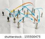 3d stainless human social...   Shutterstock . vector #155500475
