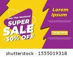 modern flash sale discount...   Shutterstock .eps vector #1555019318