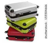 luggage consisting of three... | Shutterstock . vector #155504666