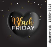 black friday banner  black... | Shutterstock .eps vector #1555048928