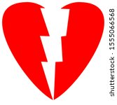 red colour heart shape with... | Shutterstock . vector #1555066568