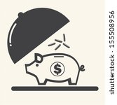 piggy bank. | Shutterstock .eps vector #155508956