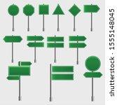 green traffic signs road board   Shutterstock .eps vector #1555148045