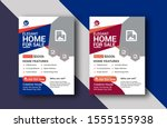 unique home sale new style... | Shutterstock . vector #1555155938