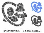 marriage circle mosaic of... | Shutterstock .eps vector #1555168862