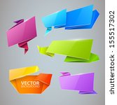 vector colorful banners set | Shutterstock .eps vector #155517302