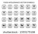 allergen ingredients vector... | Shutterstock .eps vector #1555175108