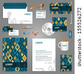 mosaic stationery template... | Shutterstock .eps vector #155526272