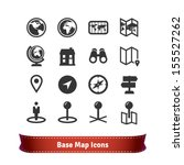 base map icon set | Shutterstock .eps vector #155527262