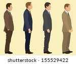 businessmen waiting in line. | Shutterstock .eps vector #155529422