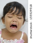 crying baby girl isolated | Shutterstock . vector #155529518