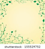 decorative floral background... | Shutterstock . vector #155529752