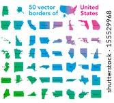 50 vector borders of united... | Shutterstock .eps vector #155529968