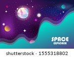 horizontal space background... | Shutterstock .eps vector #1555318802