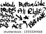 modern graffiti tags on a white ... | Shutterstock .eps vector #1555334468