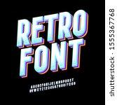 original typeface. retro font... | Shutterstock .eps vector #1555367768