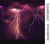 vector thunder background with... | Shutterstock .eps vector #1555369472