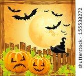 background for halloween... | Shutterstock . vector #155538272