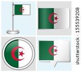 algeria flag   set of various... | Shutterstock . vector #155539208