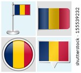 chad flag   set of various... | Shutterstock . vector #155539232