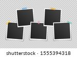 vector photo frame mockup... | Shutterstock .eps vector #1555394318