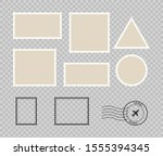 set blank postage stamp.toothed ...   Shutterstock .eps vector #1555394345