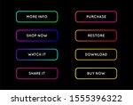 raster set of modern neon app... | Shutterstock . vector #1555396322