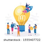 business start up concept for... | Shutterstock .eps vector #1555407722