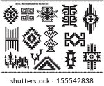 aztec decorative vector set | Shutterstock .eps vector #155542838