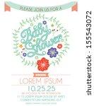 baby shower invitation card... | Shutterstock .eps vector #155543072
