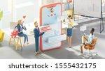 business teamwork concept. 3d...   Shutterstock . vector #1555432175
