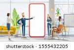 business teamwork concept. 3d... | Shutterstock . vector #1555432205