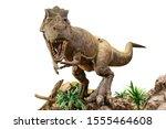 tyrannosaurus rex . t rex is...   Shutterstock . vector #1555464608