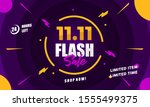 flash sale special 11.11... | Shutterstock .eps vector #1555499375