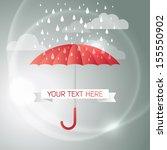 vector illustration of umbrella ... | Shutterstock .eps vector #155550902