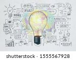 creative business sketch and...   Shutterstock . vector #1555567928